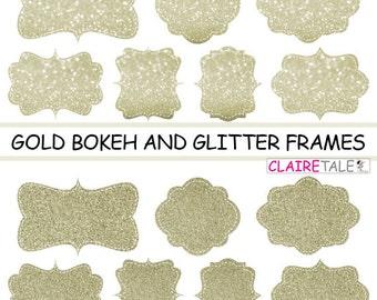 digital clipart labels gold bokeh glitter frames bokeh and glitter clipart frames labels tags on gold background