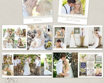 Wedding Album Book Template - C127, Instant Download