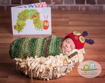 The Very Hungry Caterpillar newborn photo prop