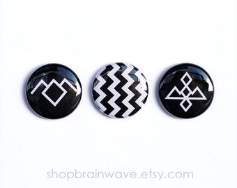 Twin Peaks Magnets. Set of 3