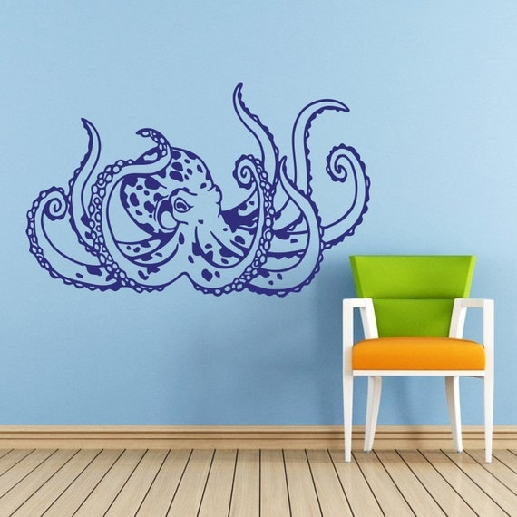 perfect octopus wall decals home design 943. Black Bedroom Furniture Sets. Home Design Ideas