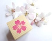 Cherry blossom, Rubber stamp, Spring flower, Sakura decor, Pink flower, Spring wedding, Asian decor, Invitation kit, Custom stamp, Hobonichi