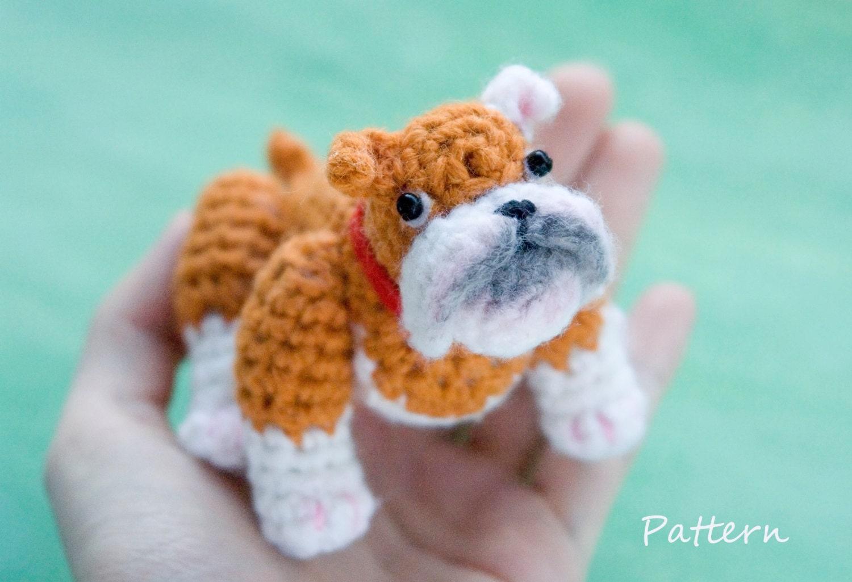 Dog CROCHET toy PATTERN / bulldog amigurumi pattern / PDF