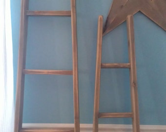 "Orchard Ladder for 72"" 5 Rungs 6Ft Rustic Vintage Decor"