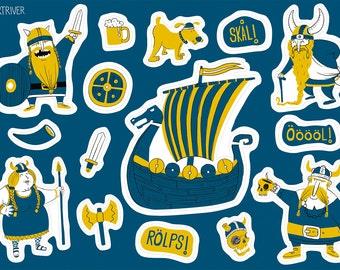 Vikingar – viking sticker set