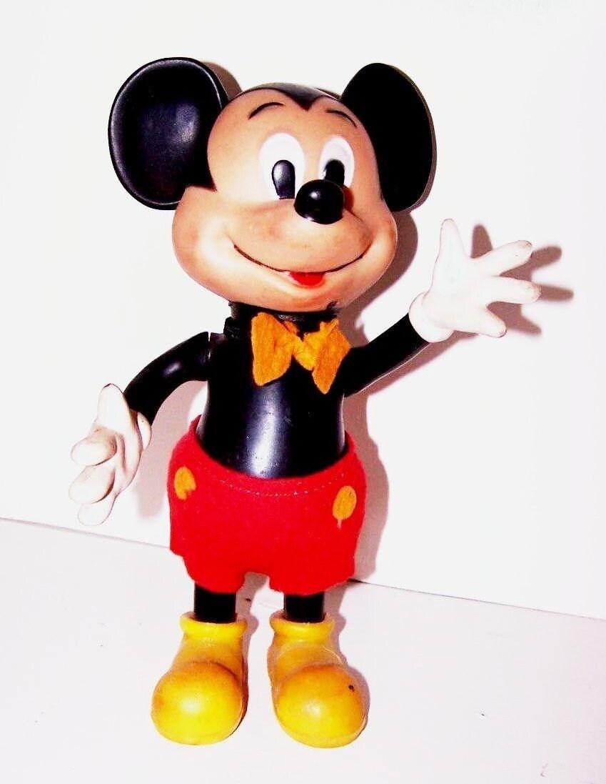 Vintage Mickey Mouse Vinyl Doll Circa 1950 S