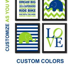 green blue baby boy nursery boys playroom rules boy nursery art baby boys room nursery rules for boys gift elephant kids wall art boy decor