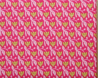 Joel Dewberry fabric Aviary Rose JD17 MAGENTA hot pink floral 100% Cotton Free Spirit Sewing quilting cotton fabric by the yard