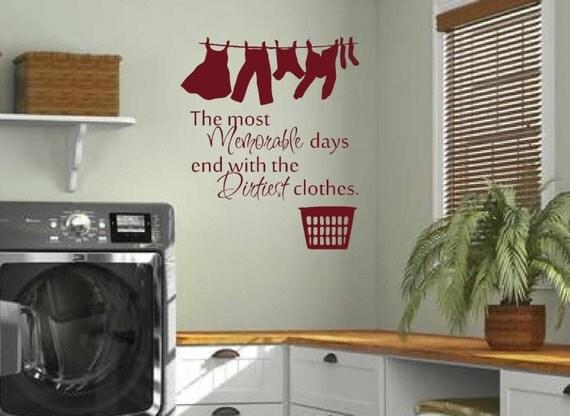 Laundry Room Decor Wall Art Matt Vinyl Decal Laundry
