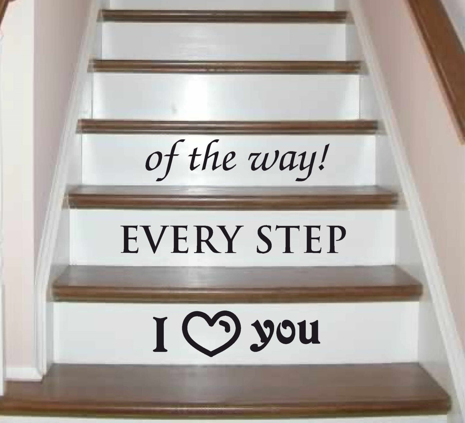Foyer Stairs Quote : I love you wall decal stairs decals sticker entryway