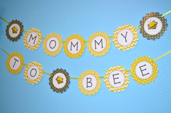 Mommy To Bee Bumblebee Baby Shower Banner