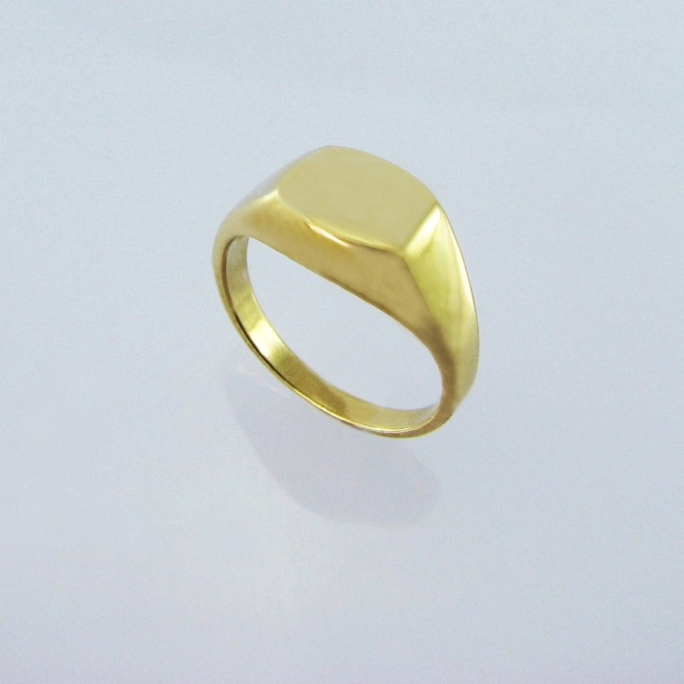 PINKY Vintage Style Signet Ring14K Gold Pinky Ring Uni