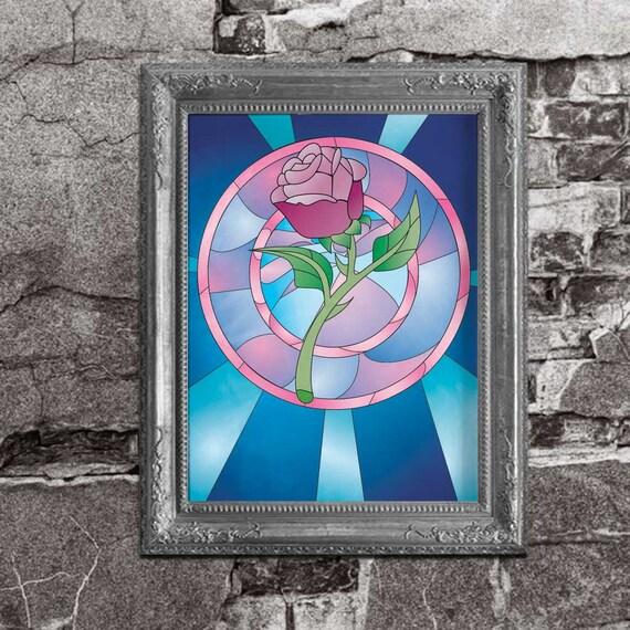 souill de verre rose belle et la b te inspirent inspir. Black Bedroom Furniture Sets. Home Design Ideas