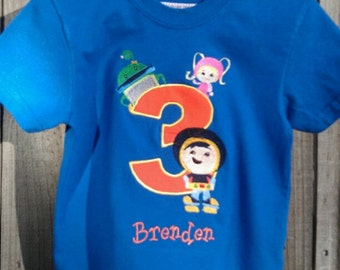Custom Order - Team Umizoomi birthday number shirt