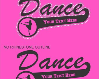 Dance Mom Sweatshirt/ Dance Sweatshirt/ Rhinestone Dance Sweatshirt/ Vinyl Rhinestone Personalized Dance Mom Team Name Mascot Hoodie