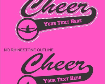 Personalized Cheer Shirt/ Cheer Shirt/ Vinyl Rhinestone Personalized Cheer Mom Team Name Mascot T Shirt/ Cheer Mom Shirt/ Cheer Grandma