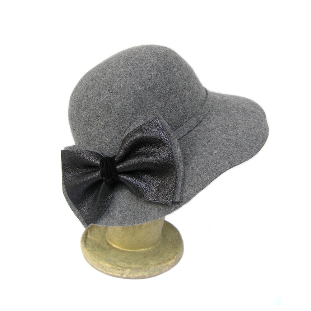 grey floppy hat grey wool hat womens wool felt hats by