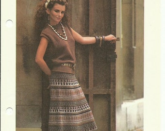Peruvian skirt crochet pattern digital download