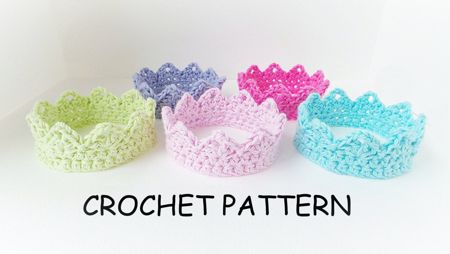Crochet Baby Crown Headband Pattern : CROCHET CROWN PATTERN Princess Charlotte Crown Baby