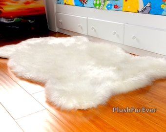 New Plush Sheepskin Rug Luxury White Brown Black Faux Fur Rug Bedroom Area Rug Fur Decor Home Accents
