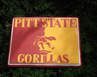 Pittsburg State Gorillas Sign