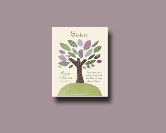Unique Wedding Gift For My Sister : Sisters Gift PrintPersonalized Gift for SisterWedding Gift for ...