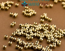 500pc, 2mm Gold Beads, Gold Filled Beads, Seamless, 2mm Beads, Wholesale, Bulk Lot, Tiny Gold Beads, Made in Italy 14/20 14kt, Seed Beads