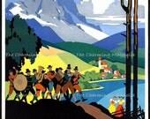 Vintage Austria Poster Print Digital Download Printable Image Instant Download For DIY Paper Crafts