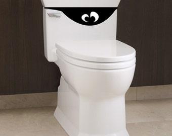 Little Toilet Monster 3 - Bathroom Decal