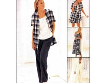 Elastic Waist Shorts and Pants, Dress or Top, Jacket Sewing Pattern Misses Plus Size 20, 22, 24 Bust 42, 44, 46 Uncut McCall's 8178