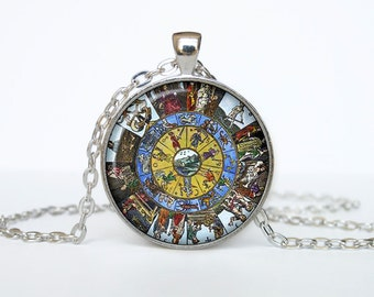 Medieval Macrocosm necklace Medieval Macrocosm pendant alchemical jewelry universe