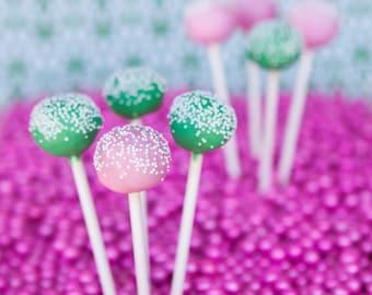 Pink and Green Cake Pop Gift Set: One Dozen