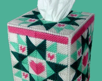 HOME SPUN QUILT - Beautiful Boutique Size Tissue Box Cover