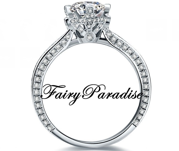 vintage style engagement ring promise rings by fairyparadise