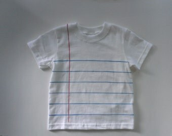 Toddler Notebook Paper Graphic© T-shirt! - Classic White - *Ready to Ship - Size 3T - Fun and Unique Back to School Gift for Kids!