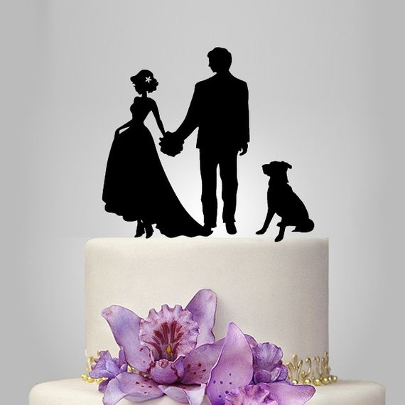 Your Own Silhouette Wedding Cake Topper By Walldecal76 On Etsy