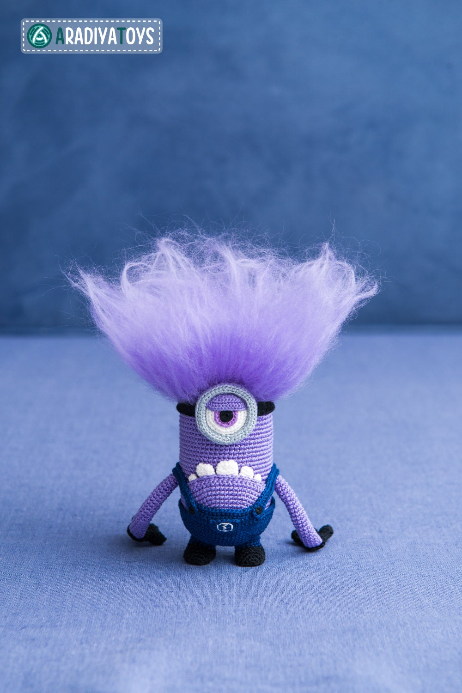 Crochet Pattern of purple monster with one eye by Aradiya ...