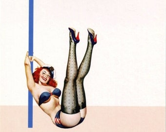 I is for Indecent Pin-Up Girl Poster
