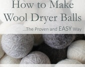 Wool Dryer Ball Tutorial [How to Make Wool Dryer Balls (Step-by-Step)] The Proven and EASY Way- Wool Dryer Ball Pattern, Dryer Ball Ebook
