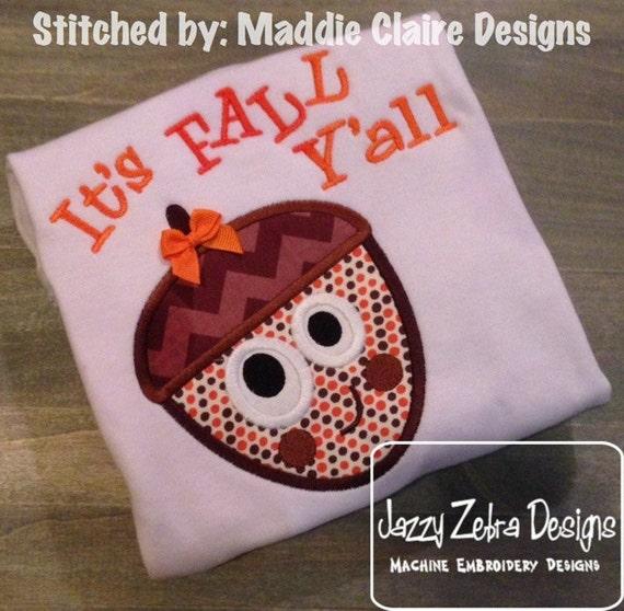 Funny Acorn Appliqué embroidery Design - acorn Applique Design - nut Applique Design - fall Applique Design