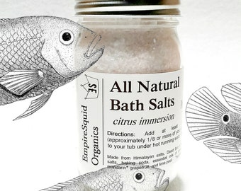 Bath Salts in Glass Jar - Aromatherapy Bath Salt - Bath Gift - Homemade Bath Salt - Organic Bath Salts - Detox Bath Salts