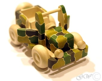 Wooden Toy Jeep, Toddler Kids Toy, Car Natural Organic Toy