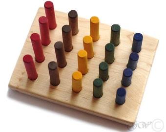 Wooden Sticks Toy, Wooden Toy, Wooden Sticks, Educational Montessori Toy