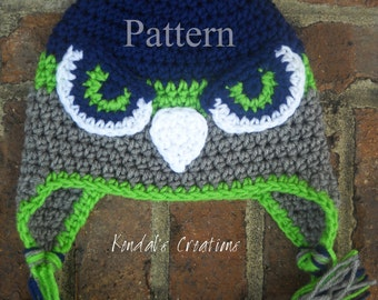 Hawk/Falcon Crochet PATTERN_Not the Actual Item/PATTERN No. 101: for 7 Sizes- Newborn Through Adult