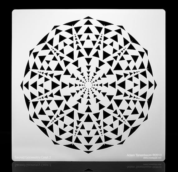 Sacred Geometry Stencils Sacred Geometry Crest