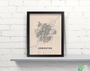 Far Sky Edmonton Road Network Map