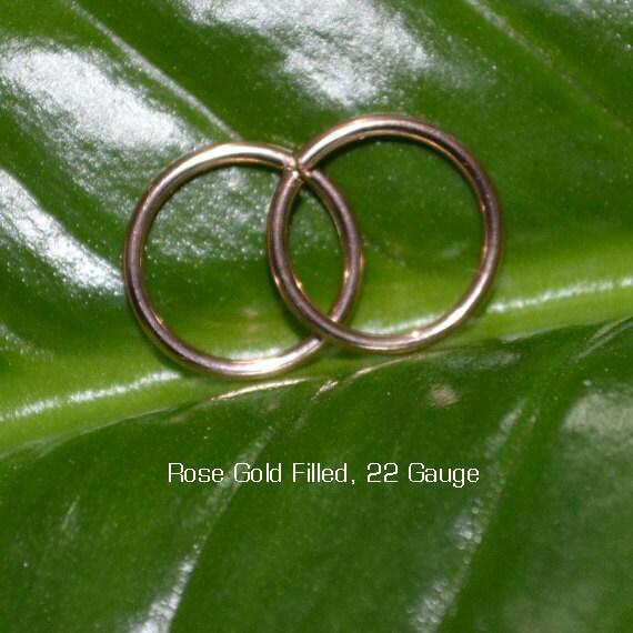 Gold Tragus Earring - Nose Ring Stud - Cartilage Hoop Earring - Helix Piercing - Daith Earring - 22g Rook Hoop - Septum Ring 22 gauge