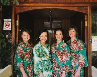Bridesmaid Robe, getting ready, gift, kimono crossover robe, cotton bridesmaids robes, bridesmaid robe, bridesmaid gift, flower girl robes