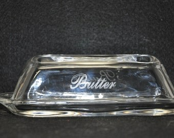 Butter Dish 034A - Laser etched