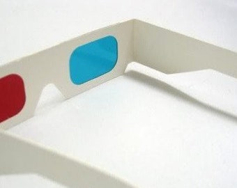 Doctor Who 3D Glasses -  10th Doctor Cosplay Prop Anaglyph retro glasses blue and cyan